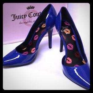 Juicy Couture Cobalt Blue Heels
